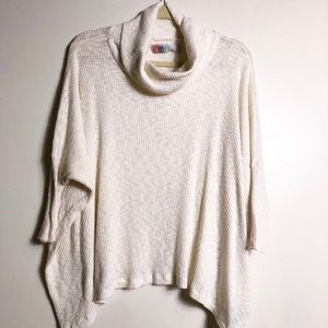 Free People cowl neck open back sweater size M